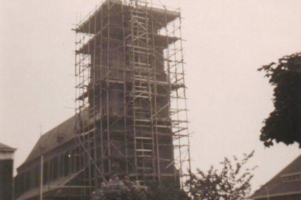 Restauratie kerk 1960.